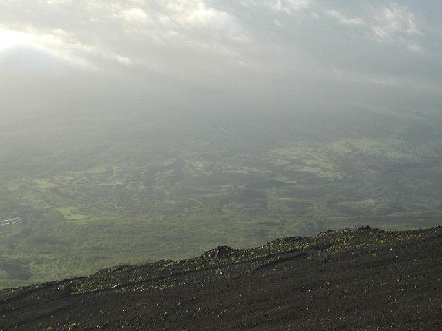 登山道からの眺め。