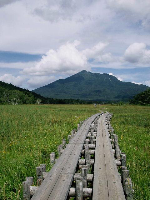上田代より燧ヶ岳を望む。